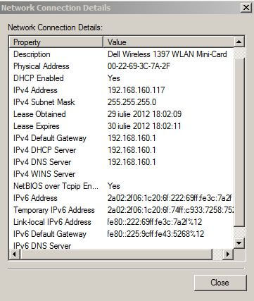 IPv6 Link local address