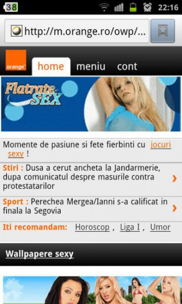 Momente de pasiune și fete ferbinți pe m.orange.ro