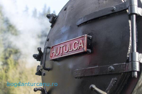 Cu mocanița Huțulca la Moldovița, Suceava, România.
