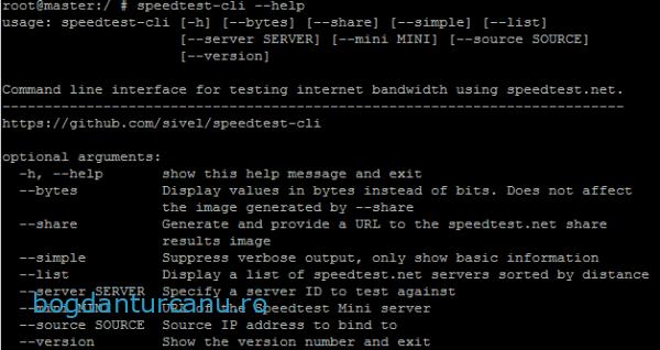 speedtest-cli-help