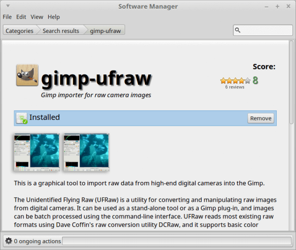 gimp-ufraw-software-manager