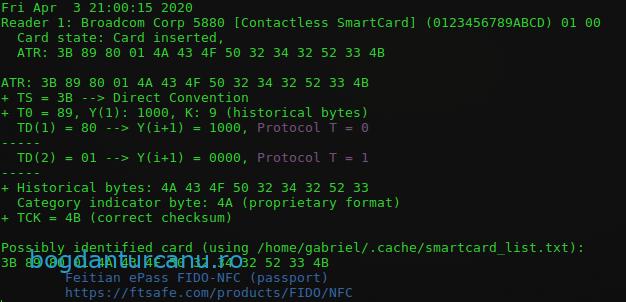 FEITIAN ePass FIDO2-NFC Broadcom 5880 contactleess