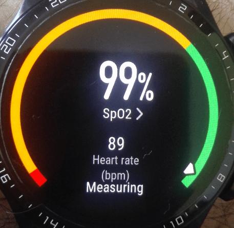 Huawei Watch GT2 nivel SpO2