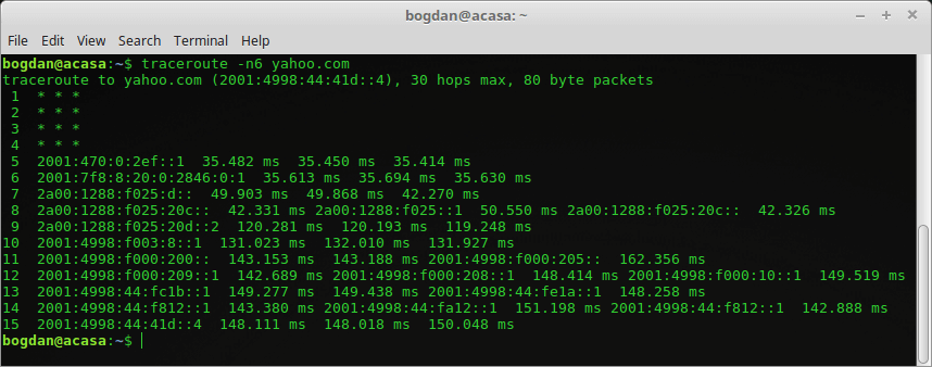 linux traceroute ipv6