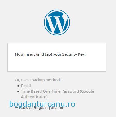 Wordpress autentificare cu doi factori metode alternative