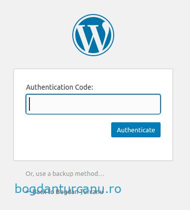 Wordpress autentificare cu doi factori cod otp