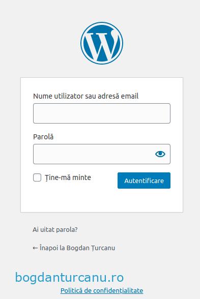 Wordpress autentificare cu doi factori primul pas