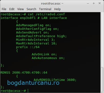 RADVD IPv6 Orange Home Net