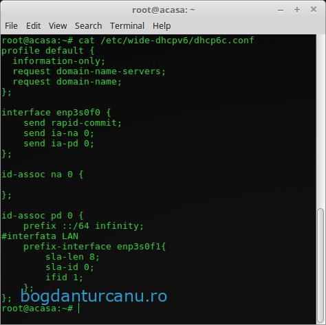 Orange Romania - Dual Stack IPv4/IPv6 -  fisier configurare client dhcp6